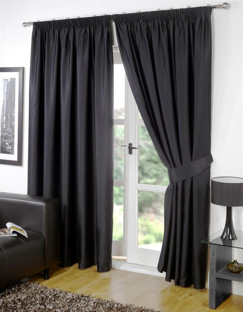 Blackout curtains gray